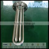 AURON/HEATWELL electric flange heat tube/pipe/electric heat coil/electric heat resistance stainless steel tube/pipe