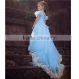 Little girl elegant and fancy lace wedding dress wholesale baby girl realistic princess halloween costume (Ulik-A0133)