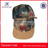 custom leather patch logo floral digital print pattern cap                                                                         Quality Choice