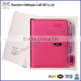 Fashion unique design notebook gift box set with swivel usb drive                                                                         Quality Choice