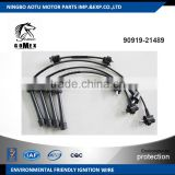 High voltage silicone Ignition wire set, ignition cable kit, spark plug wire 90919-21489 for TOYOTA