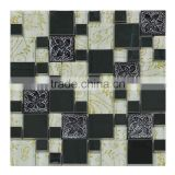 Wholesale Square Shape Stainless Steel Mix Glass Mosaic, Living Rooms Interior Wall Tile Design