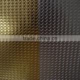 Diamond pattern iridescent leather fabric for Packaging