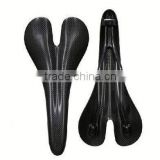 Weight light new product 2014 hot road bicycle or mountain bike carbon fiber saddle leather saddle bag