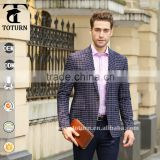 2016 new product Hot Sale Lightweight buy direct from china factory striped check tartan plaid polyester yarn turkish mens suits