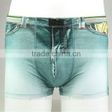 Jeans+ Dollar Printed funny 95% cotton and 5% spandex free sample men underwear with high quality with competitve price