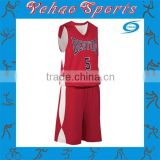 red white basketball jersey uniform with black name and number