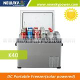 DC 12V K50 portable car fridge freezer solar powered refrigerator fridge freezer mini fridge