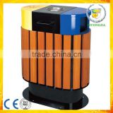 plastic wood park garden waste bin trash can                                                                                                         Supplier's Choice