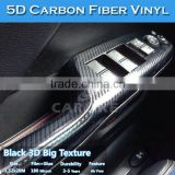 CARLIKE Bubble Free Liner Super Glossy Sticker Film 5D Carbon Fiber Wrap