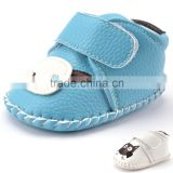 A-bomb Lichee Pattern Soft Leather Rubber Sole Cartoon Baby Girls Outdoor Prewalker Shoes/Baby Girls Sandles