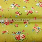 100% cotton printed corduroy fabric/21W pastorale style printed corduroy clothing