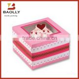 High Quality Custom Folding Mini Paper Cupcake Box With Window                                                                         Quality Choice