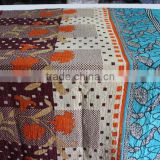 Vintage Patchwork Handmade Kantha Bed Cover Quilt, Gudari Reversible Custom Design, Drop Shipping