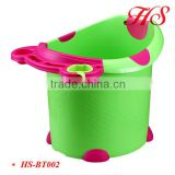 Large portable plastic baby freestanding bath tub foot bath bucket with seat