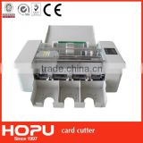 HOPU id card machine electronic cutter china factory semi-automatic card cutter 300gsm