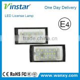 E4 approved 18# Wholesale SMD LED 4X brighter than stock lamp led license plate light for BMW E46 2D