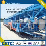 car carrying tri-axle semi truck trailer, suv transport double decks semi trailer, hydraulic car carrier for african market