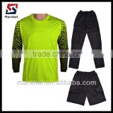 Top Quality blank Long Sleeve Goalkeeper Jersey with short,GK jersey shirt,Soccer Goalie jersey
