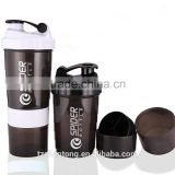 YB-X205 stainless steel mixer BPA free 500ml plastic protein shaker