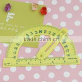 stationery protractor with swing arm,color received may vary