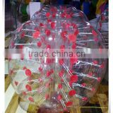 New design red dotted inflatable belly bumper ball/ body zorbing bubble ball for sale