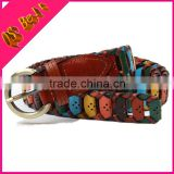 Female models knit hit color belt Hugh head decorative waist Fashion women's thin belt