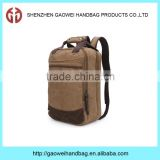 multifunctional computer backpack laptop bags laptop backpack bags; dual purpose brown canvas backpack bag