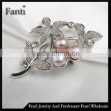 Buy china jewelry natural freshwater pearl brooch