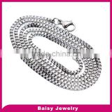 popular style 316l Stainless Steel Box Chain Necklace with Lobster Clasp