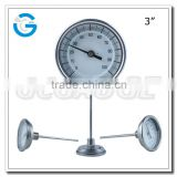 High quality back connection stainless steel temperature gauge meter with crimped ring