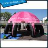 Giant inflatable arch tent/8 feet inflatable dome tent/Pink arch tent with logo for outdoor advertising