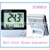 digital wall clock with battery thermo hygrometer LCD display TL8001A