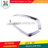 Chrome Accessories HEAD LAMP RIM for AUDI Q3