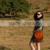 colourful shoulder leather bags