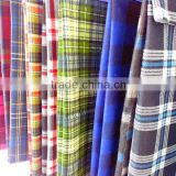 Printed cotton flannel, plaid pattern flannel fabric, ons side brushed flannel for shirts 20s*10s 40*42