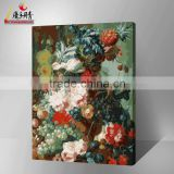 hot sales flower vase in china yiwu factory lovequeen landscape diy canvas oil art decorative painting by numbers