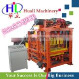 Cement Block Manufacturing Plant QT4-23 Hollow Block Maker Machine in Philippines with PLC control cabinet