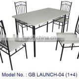 Cheap Price Metal Dining Sets In New Designs With 1+4 Indoor Home Furniture Of Table And Chairs Malaysia In Classic Appearance