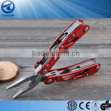 Portable Stainless Steel Multi-Pliers Multi-function Folding Outdoor Knife with 10Pcs Screwdriver Accessories