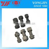 Construction equipment Excavator bulldozer track shoes bolts nuts high strength track shoe bolts
