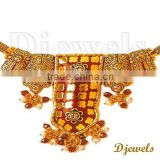 22K Gold Kundan Necklaces,22K Real Kundan Jewelry, Jaipur Kundan Necklaces