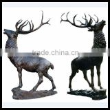 Bronze,Brass,Cast Iron Metal Deer Animal Statues