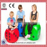 High quality big size pu dice stress ball,custom stress dice with logo print,cheap promotion gift