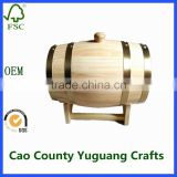 cheap 10L wooden beer wine barrels for sale