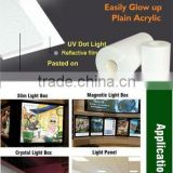 led light guide film in advertising light boxes