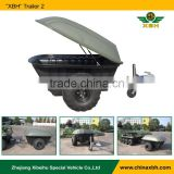 300kgs capacity ATV Tow Behind Trailer 2 wheel rear trailer for amphibious vehicle accessary