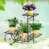 oem decorative wholesale handmade Multiple color Iron flower pot display stand