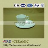 2014 new design 2pcs white cup and dish/porcelain set