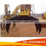 Excavator hydraulic wood grapple rock grab for all kinds of excavator china made